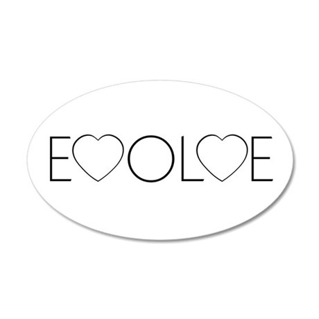 Evolve Love 38.5x24.5 Oval Wall Peel