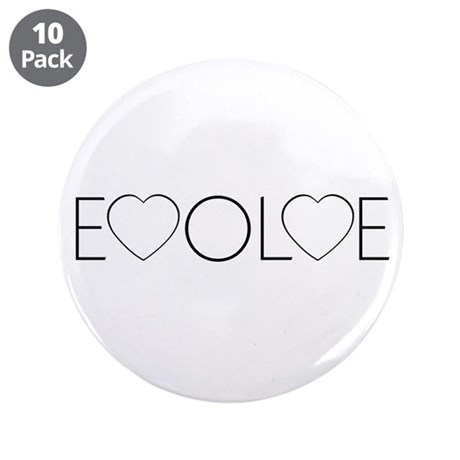 Evolve Love 3.5 Inch Buttons ~ Pack of 10