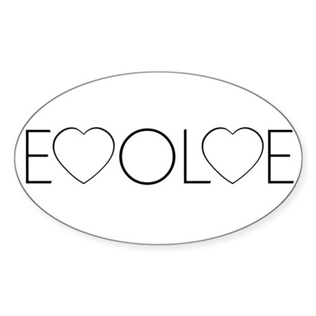 Evolve Love Oval Sticker