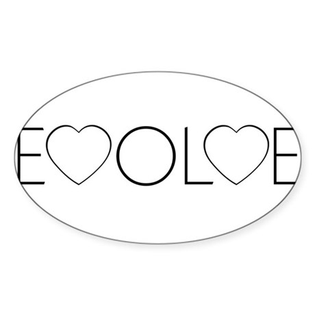 Evolve Love Oval Stickers ~ Pack of 50