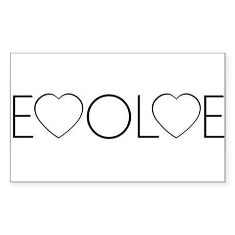 Evolve Love Rectangle Stickers ~ Pack of 10