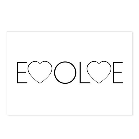 Evolve Love Postcards ~ Package of 8