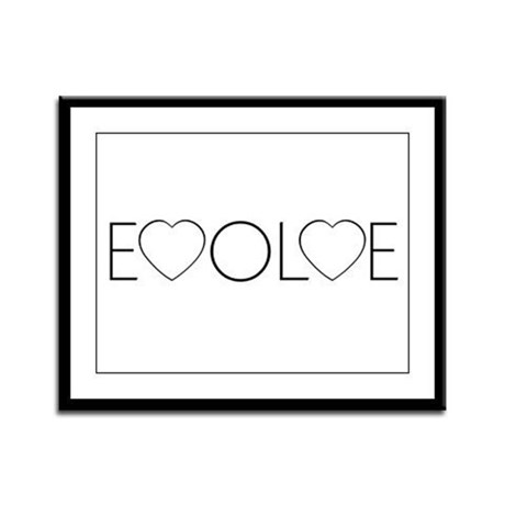 Evolve Love Framed Panel Print