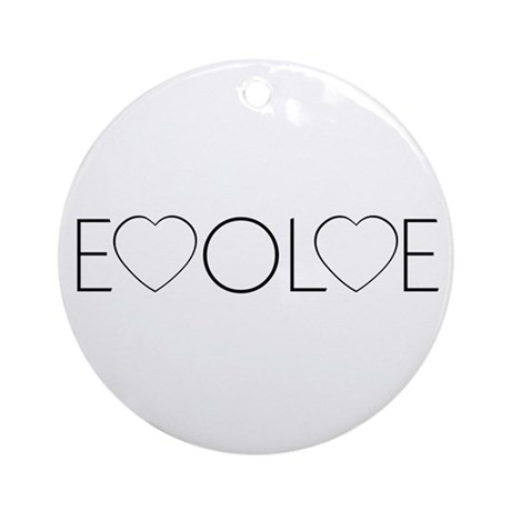 Evolve Love Round Ornament