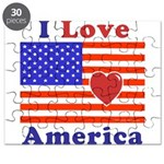 Heart America Flag Puzzle