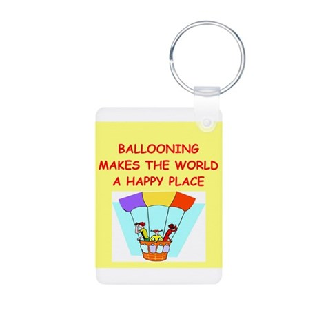 ballooning Aluminum Photo Keychain
