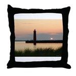 .Muskegon Breakwater Light. Throw Pillow