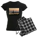 .Muskegon Breakwater Light. Women's Dark Pajamas