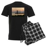 .Muskegon Breakwater Light. Men's Dark Pajamas