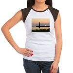 .Muskegon Breakwater Light. Women's Cap Sleeve T-S