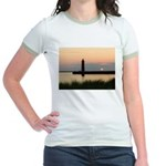 .Muskegon Breakwater Light. Jr. Ringer T-Shirt