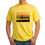.Muskegon Breakwater Light. Yellow T-Shirt