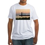 .Muskegon Breakwater Light. Fitted T-Shirt