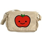 Happy Apple Messenger Bag