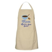 Mom World's Best Baker Kitchen Apron Gift