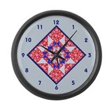 Unique Quilting Large Wall Clock