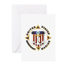 Emblem - US Merchant Marine Greeting Cards (Pk of