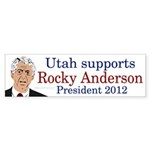 Utah for Rocky Anderson bumper sticker