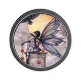 Autumn Raven Wall Clock