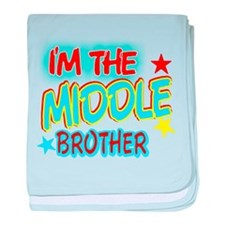 I'M THE MIDDLE BROTHER baby blanket