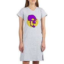 Purple Skull Women's Nightshirt