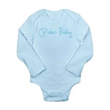Paleo Baby - Blue Long Sleeve Infant Bodysuit