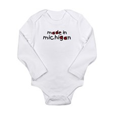 Unique Michigan Long Sleeve Infant Bodysuit