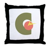 Experimental typography Throw Pillow