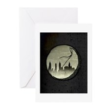 Moon Over Manhattan Greeting Cards (Pk of 10)