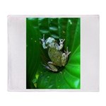 treefrog I Throw Blanket