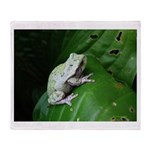 treefrog III Throw Blanket