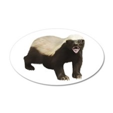 Honey Badger 22x14 Oval Wall Peel