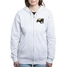 Honey Badger Zipped Hoody