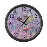 Cute Little Fairy Large Wall Clock