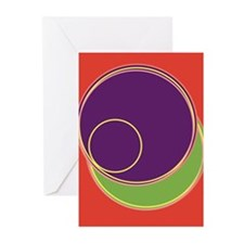 Letter O Greeting Cards (Pk of 10)