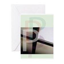 Letter P Greeting Cards (Pk of 10)