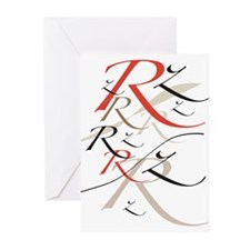 Letter R Greeting Cards (Pk of 10)