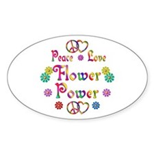 Peace Love Flower Power Decal