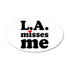 LA Misses Me 38.5 x 24.5 Oval Wall Peel