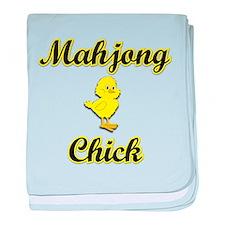 Mahjong Chick baby blanket