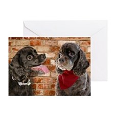 Cocker Spaniel Buddies Greeting Card