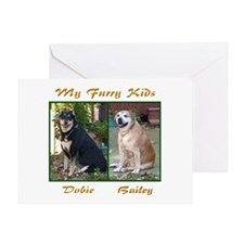 Bailey and Dobie Greeting Card