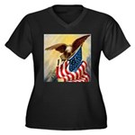 1776 SPIRIT OF™ Women's Plus Size V-Neck Dark T-Sh