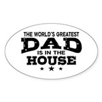World's Greatest Dad Sticker (Oval)