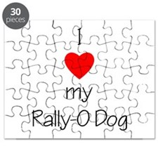 I Love my Rally-O dog Puzzle