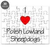 I Love Polish Lowland Sheepdo Puzzle