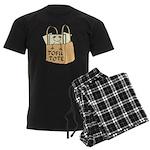 Funny Tofu Tote Men's Dark Pajamas