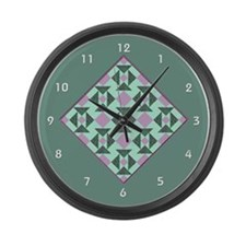 Cute Patchwork Large Wall Clock