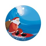 Santa Surf Ornament (Round)