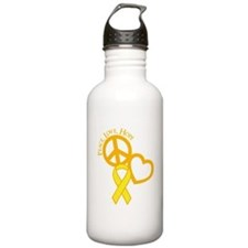 Peace,Love,Hope Water Bottle